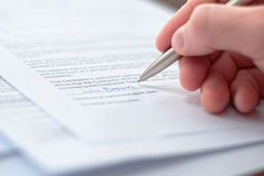 Perfect Picture Of Businessmen Signing Contract. Royalty Free Stock Image