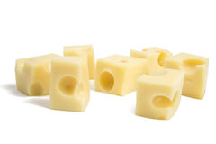 Perfect Pieces of Swiss Cheese. XXL Royalty Free Stock Photography