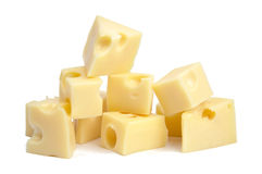 Perfect Pieces of Swiss Cheese. XXL Royalty Free Stock Photos