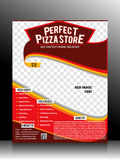 Perfect Pizza Store Flyer Template Royalty Free Stock Photo