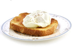 Perfect poached egg Stock Images