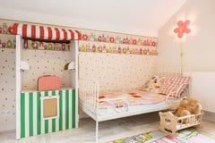 Perfect pokój dla małej dziewczynki zdjęcie royalty free