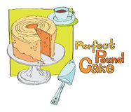 Perfect pound cake Stock Images