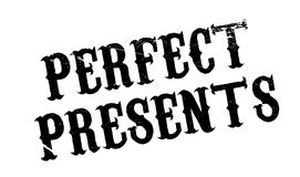 Perfect Presents rubber stamp Stock Images