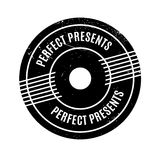 Perfect Presents rubber stamp Stock Photography