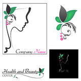 Woman with Floral Stock Images