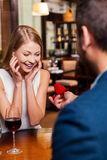 Perfect proposal. Royalty Free Stock Photo