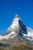 The perfect pyramid of the Matterhorn Royalty Free Stock Image