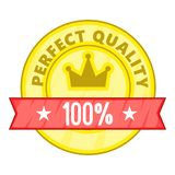 Perfect quality label icon, cartoon style Royalty Free Stock Image