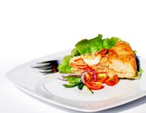 The Perfect Quiche on plate Royalty Free Stock Images