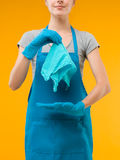The perfect rag for cleaning Royalty Free Stock Images