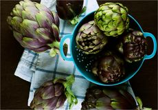 Perfect Raw Artichokes Stock Image