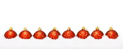 Perfect red christmas balls Royalty Free Stock Image