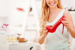 Perfect red heels. Royalty Free Stock Image