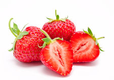 Perfect red ripe strawberry  Royalty Free Stock Photos