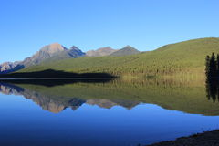 Perfect Reflection in Glacier National Park Royalty Free Stock Photography