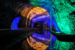 Perfect reflection in Nemocon Salt Mines, Colombia Stock Photo