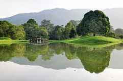 Perfect reflection at Taiping Lake Royalty Free Stock Image