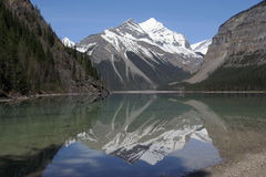 Perfect Reflection of Whitehorn Mountain in Kinney Lake, Mount Robson Provincial Park, British Columbia, Canada Stock Photography