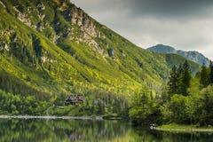 Perfect reflectionin alpine lake at early morning, Tatra,Poland Royalty Free Stock Photography
