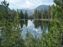 Perfect Reflections. Dana Gardens, Tioga Pass, Yosemite National Park Stock Photo