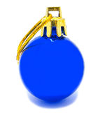 Perfect retro blue christmas ball isolated Stock Photo