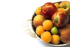 Perfect ripe apricot fruit pictures in plate,Herbal solution to constipation disease apricot fruit. Matured apricots in plate, white background apricot pictures Royalty Free Stock Photography
