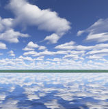 Perfect river. clouds Royalty Free Stock Photos