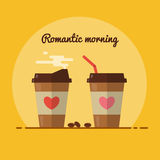 Perfect romantic morning with coffee Royalty Free Stock Photo