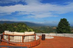 The perfect rooftop. Perfect rooftop with amazing view Royalty Free Stock Photography