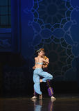 """Perfect rotation-The princess was highly revered- ballet """"One Thousand and One Nights"""". Ballet One Thousand and One Nights is based on the fairy tale with Stock Photos"""