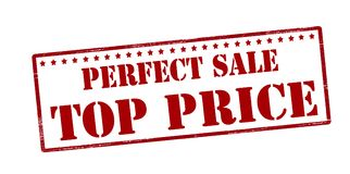 Perfect sale top price. Stamp with text perfect sale top price inside,  illustration Royalty Free Stock Photo