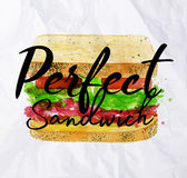Perfect sandwich Royalty Free Stock Image