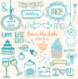 Perfect save the date design elements stock illustration