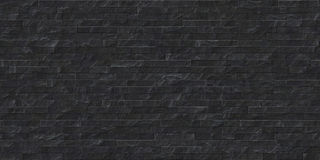 Perfect seamless black slate stone masonry texture royalty free illustration