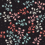 Perfect seamless pattern with flowers and leaves Royalty Free Stock Images
