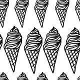 Perfect seamless pattern with ice cream cones Royalty Free Stock Image