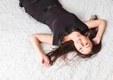 Perfect seksowna dębna kobieta Fotografia Royalty Free