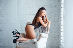 Perfect, sexy body, legs and ass of young woman Royalty Free Stock Image