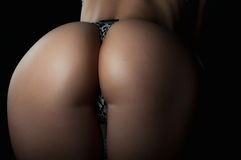 Perfect sexy buttocks close-up Royalty Free Stock Image
