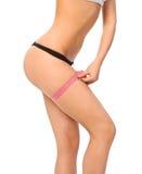 Perfect shape of beautiful thigh Stock Image
