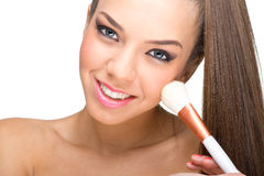 Perfect skin, make-up model Stock Images