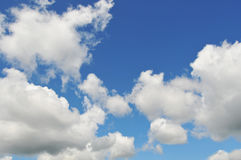 Perfect a sky. A perfect summer blue sky with clouds Royalty Free Stock Image