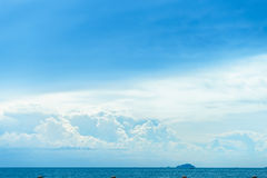Perfect sky with cloud and tropical sea Royalty Free Stock Photo