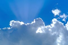 Perfect sky. With sun and clouds Royalty Free Stock Photo