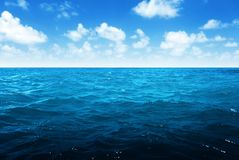 Perfect sky and tropical ocean. Africa Royalty Free Stock Photography