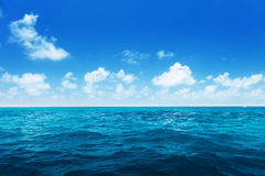 Perfect sky and water of indian ocean Royalty Free Stock Image