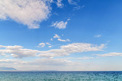 Perfect sky and water of ocean background Stock Image