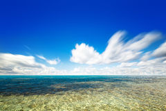 Perfect sky and water of ocean Royalty Free Stock Photo