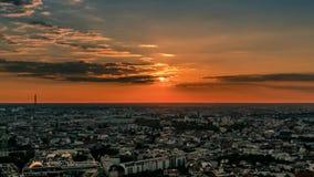 Perfect Skyline time lapse aerial of Berlin with beautiful sunset. Perfect Skyline aerial of Berlin with beautiful sunset in summer at evening time. Romantic sun stock footage